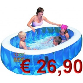 BESTWAY OVAL INFLATABLE POOL FOR CHILDREN CM.234x152x51h. MOD. 54066