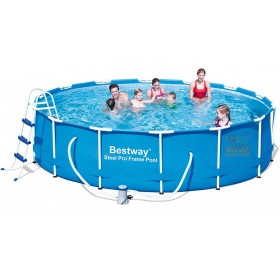 BESTWAY ROUND POOL WITH STEEL PRO FRAME CM. 427X100h. MOD. 56305