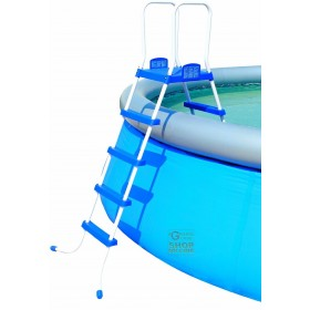 BESTWAY DOUBLE LADDER ASCENT FOR POOLS HEIGHT CM. 122 MOD. 58097 ORIGINAL