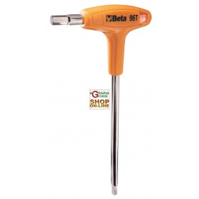 BETA ART 96T / 6 HEXAGONAL MALE WRENCH FOLDED WITH HANDLE MM. 6