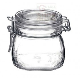 MAX GLASS JAR WITH SEALED CLOSURE DIAM. CM. 10