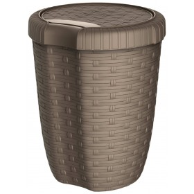 MAZZEI ALYSSA 8 CONTAINER WITH LID LT.8 TAUPE cm. 23x23x29h.