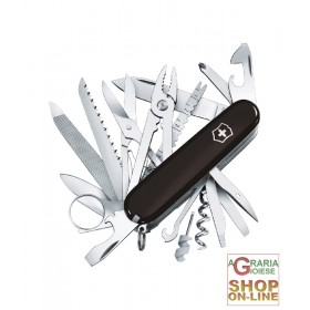 VICTORINOX MULTIPURPOSE SWISSCHAMP BLACK CHEEKS