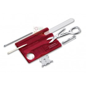 VICTORINOX SWISSCARD NAIL CARE TROUSSE FOR TRANSPARENT RED NAILS
