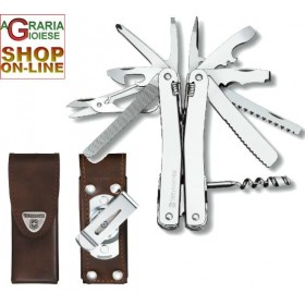 VICTORINOX SWISSTOOL SPIRIT CLAMP WITH LEATHER SHEATH