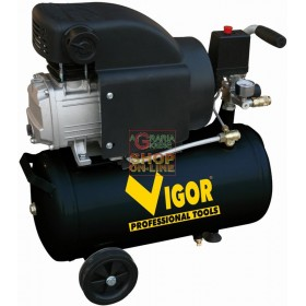 VIGOR COMPRESSOR 220V 1 CYL.DIRECT HP.1,5 LT. 24 56350-12 / 8