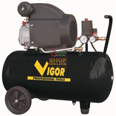 VIGOR COMPRESSORE 220V 1 CIL.DIRETTO HP.2 LT. 50 56350-20/3