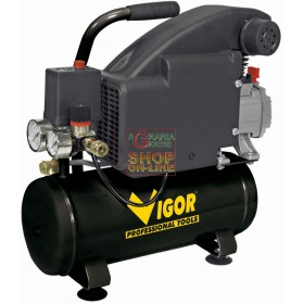 VIGOR PORTABLE ELECTRIC COMPRESSOR LT. 8 HP 1