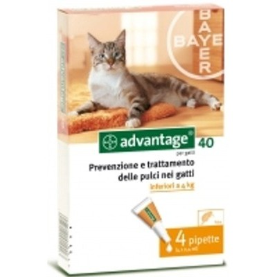 ADVANTAGE 40 FOR CATS AND RABBITS 4 LOWER PIPETTES KG. 4