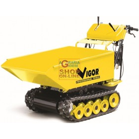 VIGOR MINITRANSPORTER WHEELBARROW WITH TRACKED ENGINE HP. 6.5