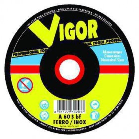 VIGOR SPECIAL ABRASIVE WHEEL STAINLESS STEEL FLAT 125X1,6X22
