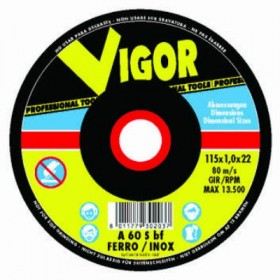 VIGOR MOLE ABRASIVE PER FERRO CON DEPRESSO CM. 230X6,4X22