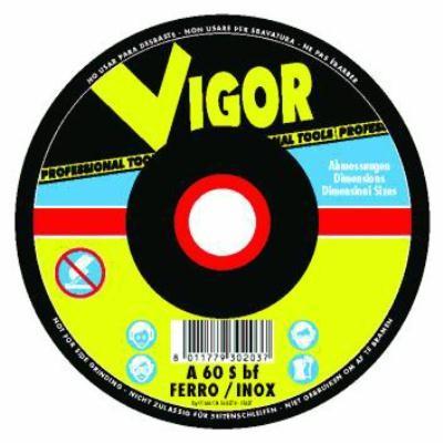 VIGOR MOLE ABRASIVE SPECIAL ACCIAIO-INOX PIANE 115X1,6X22