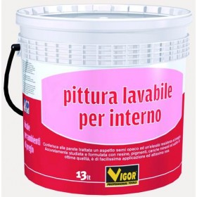 VIGOR WASHABLE WALL PAINT FOR INTERIOR WHITE LT. 13
