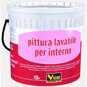 VIGOR PITTURA MURALE LAVABILE PER INTERNO BIANCO LT. 4