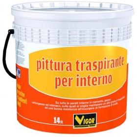 VIGOR PITTURA MURALE TRASPIRANTE BIANCO LT. 14