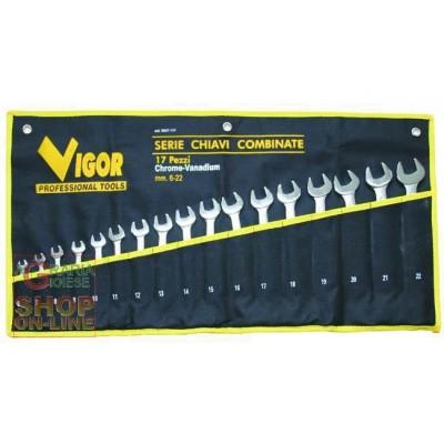 VIGOR SERIE CHIAVI COMBINATE CRV DIN3113 PZ 17 35827-17/7