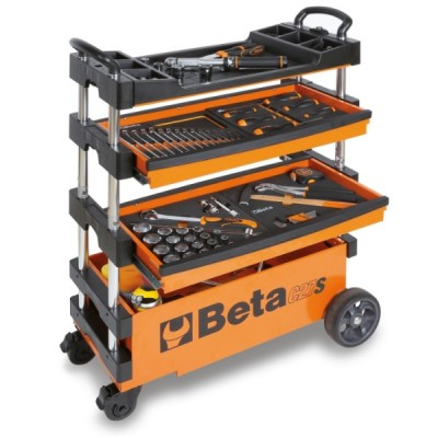 BETA ART. C27S-G FOLDABLE TOOL TROLLEY FOR INTERIORS AND EXTERIORS CM. 99x39x70