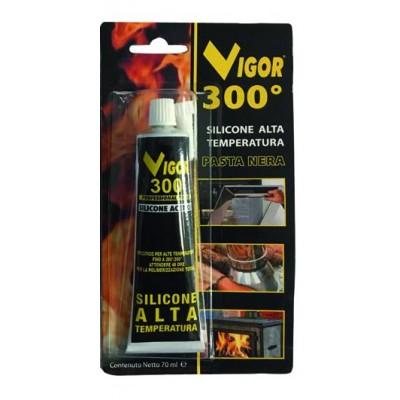VIGOR SILICONE HIGH TEMPERATURE BLACK PASTE TUBE ML. 70