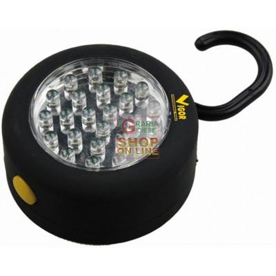 VIGOR CIRCLE LED TORCH WITH HOOK 24 LED