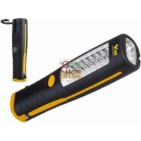 VIGOR TORCIA A LED FLASH CON GANCIO 30 LED