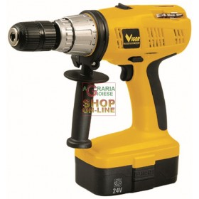 VIGOR DRILL DRIVER WITH BATTERY PERCUSSION VTB 24V VOLT 24
