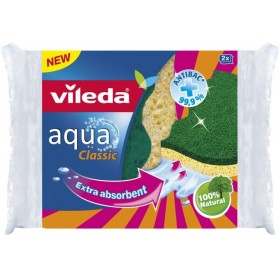 VILEDA AQUA Abrasive kitchen sponge PCS. 2