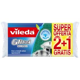 Vileda Glitzi Crystal sponge with 2 + 1 degreasing active