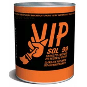 VIP SOL 99 GLOSSY ENAMEL FOR WOOD AND IRON 80 BROWN BISTROT