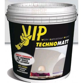 VIP TECHNOMATT SUPER MATT WASHABLE PAINT FOR INTERIORS NEW FORMULA LT. 10 BB