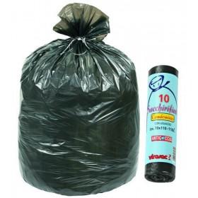 VIROSAC BAGS CONDOMINIUM BLACK PCS.10 STRAP CM. 70X110