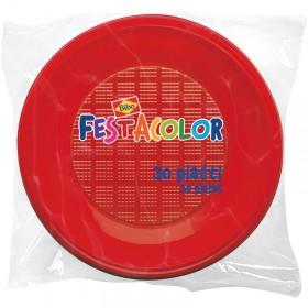 BIBO 30 ROUND RED PLATES BOTTOMS IN PLASTIC DIAM. 21 CM. 5