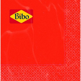BIBO 40 RED 2-PLY NAPKINS 33x33