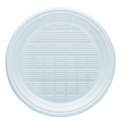 BIBO 50 PLATES IN WHITE PLASTIC DM 20 5 CM