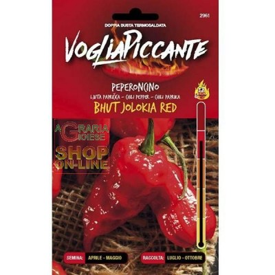 HEAVY SPICY SEEDS OF SPICY CHILI PEPPER BHUTH JOLOKIA RED