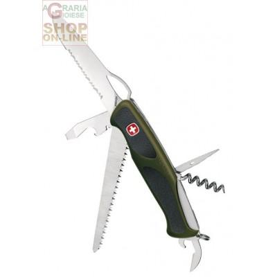 WENGER FOLDING KNIFE RANGER GRIP 179 MILITARY GREEN