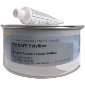 YACHT PAINTS FILL SAFE POLYFIBER STUCCO POLYESTER FIBRATO FOR BOATS WHITE KG. 1