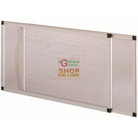 IRS EXTENDABLE MOSQUITO NET IN ANODIZED ALUMINUM CM. 50x70h