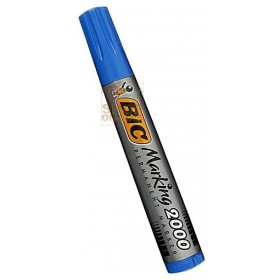 BIC INDELIBLE MARKER PLASTIC DRUM WITH ROUND TIP BLUE COLOR