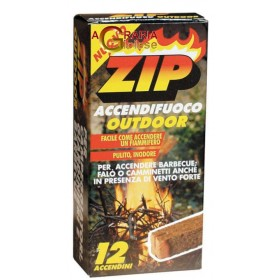 ZIP ECOLOGICAL FIRE LIGHTER WITH INSTANT MATCH PCS. 12