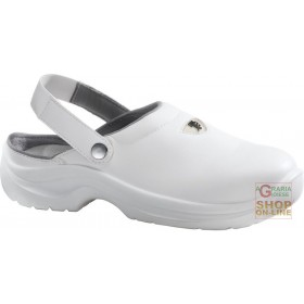CLOGS IN MICROFIBER WITH STRAP AND WITH TOE IN THERMOPLASTIC MATERIAL COLOR WHITE TG 36 47