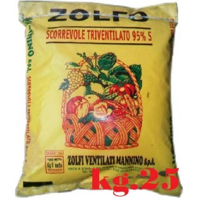 TRIVENTILATED SLIDING YELLOW SULFUR 95% KG. 25 MANNINO
