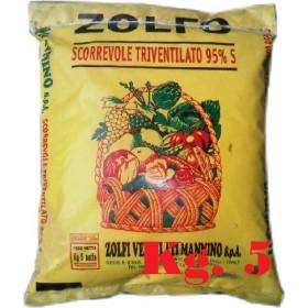 SLIDING TRIVENTILATED YELLOW SULFUR 95% KG. 5 MANNINO
