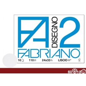 ALBUM DISEGNO F2 10FF 24X34 LISCIO 60/10