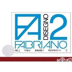 ALBUM DISEGNO F2 10FF 24X34 RUVIDO 60/10