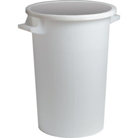 WHITE BIN WITHOUT LID LT.120