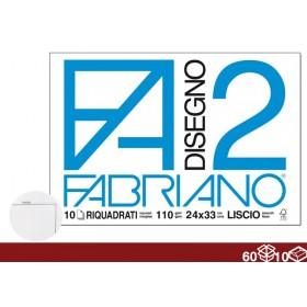 ALBUM DISEGNO F2 10FF 24X34 SQUADERNO 60/10