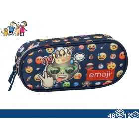 COLOR POCKET CASE IN ORGANIZED FABRIC EMOJI KING 48/12 cm. 21
