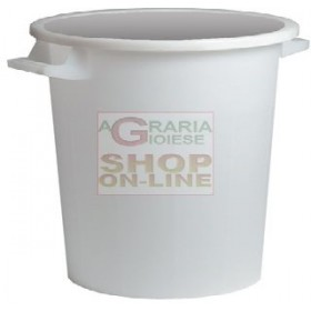 STACKABLE WHITE BIN WITHOUT LID LT. 50