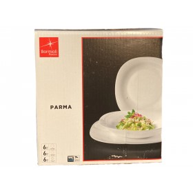 BORMIOLI SET 18 DEEP PLATES AND DESSERTS PARMA SERIES
